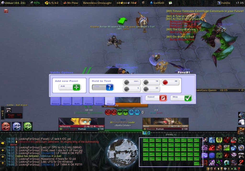 Grid vs Vuhdo - UI & Macros - Wowhead Forums